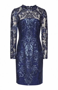 Chantalle lace - Navy blue