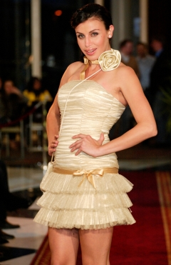 Dress ADI tulle gold from 490lv. to 200lv.