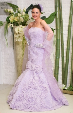 Dress mermaid BUHARA color lilac from 1200lv. to 700lv.