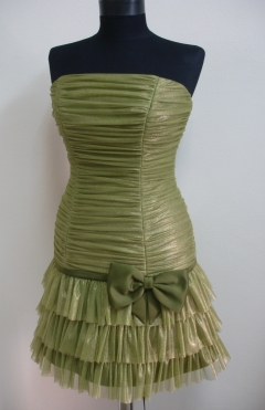 Dress ADI tulle green  from 490lv. to 200lv.