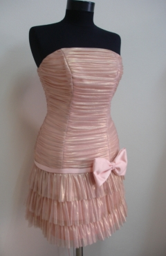 Dress ADI tulle salmon from 490lv. to 200lv.